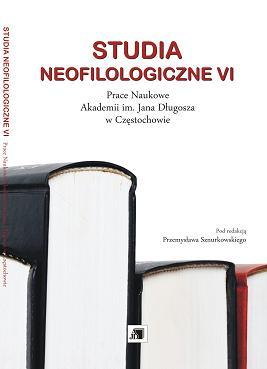 Wyświetl Nr VI (2010): STUDIA NEOFILOLOGICZNE VI