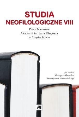 Wyświetl Nr VIII (2012): STUDIA NEOFILOLOGICZNE VIII