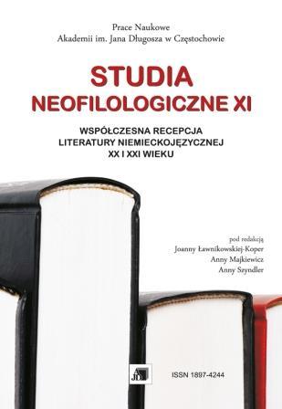Wyświetl Nr XI (2015): STUDIA NEOFILOLOGICZNE XI