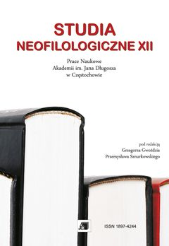 Wyświetl Nr XII (2016): STUDIA NEOFILOLOGICZNE XII