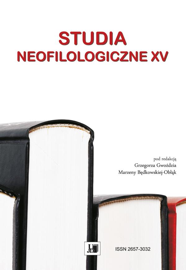 Wyświetl Nr XV (2019): STUDIA NEOFILOLOGICZNE XV