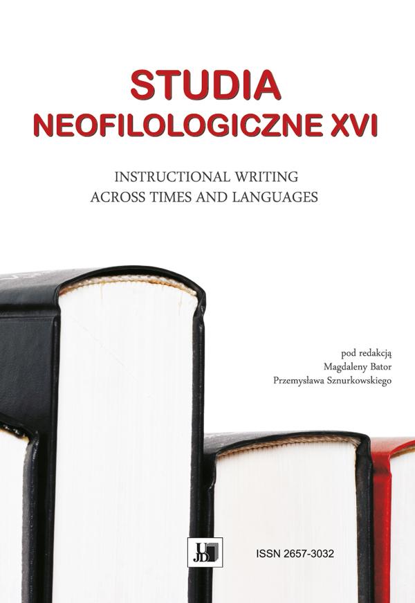 Wyświetl Nr XVI (2020): STUDIA NEOFILOLOGICZNE XVI